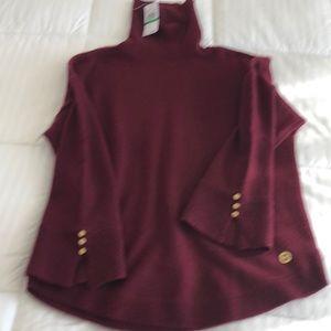 Michael Kors burgundy basic sweater